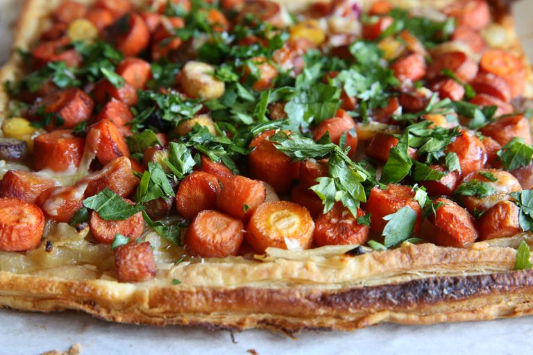Caramelized Carrot and Onion Tart -