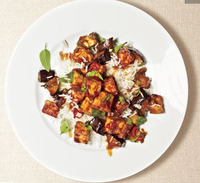 Eggplant and Tofu Stir-Fry -