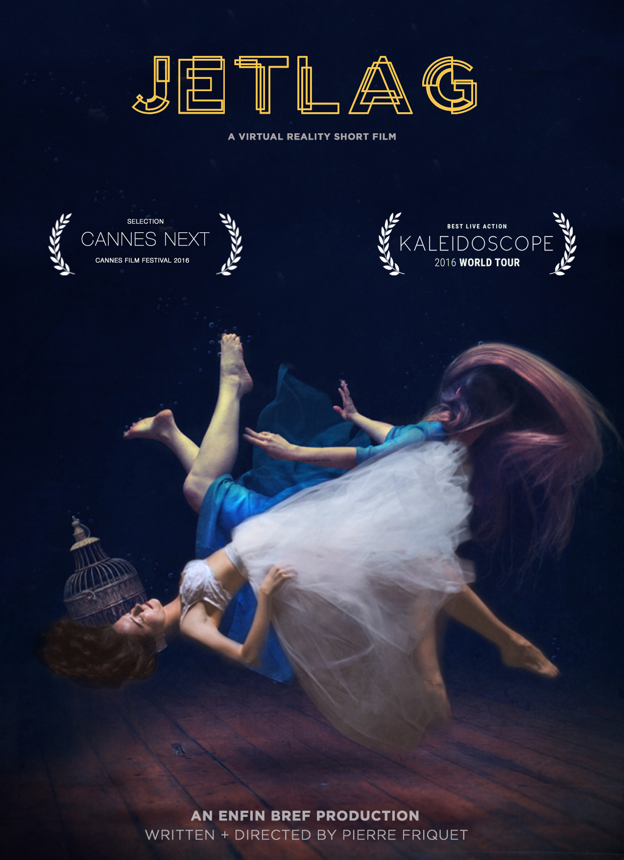Cannes Film Festival Official Entry, 2016. -  Due to her expiring visa, Ju, a 30-year old Brazilian woman, leaves India. Hence She leaves behind her lover, Tanushree, a young Indian woman.Separated by continents they start exchanging audio messages. To express their love in absence of each other, Ju performs an Indian classical dance and Tanushree, a capoeira dance. In these physical forms they find a temporary union.When Tanushree's rational side arises, she questions the relationship, sending Ju diving into a poetic world.. I am the co-creator, Technical Director & Director of Photography of this film. We shot in the summer of 2015 in Mumbai, India.It is premiering on the Kaleidoscope VR Film Festival World Tour 2016 & Cannes Film Festival 2016.