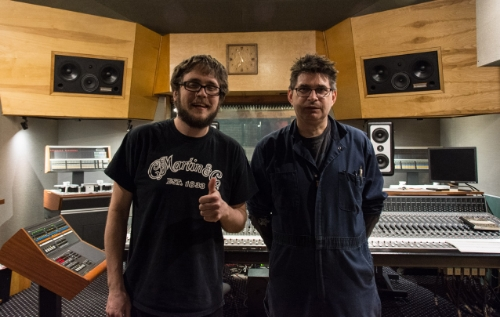 Me with Steve Albini. I look really high here but I wasn't. I swear. Photo by Victoria Sanders