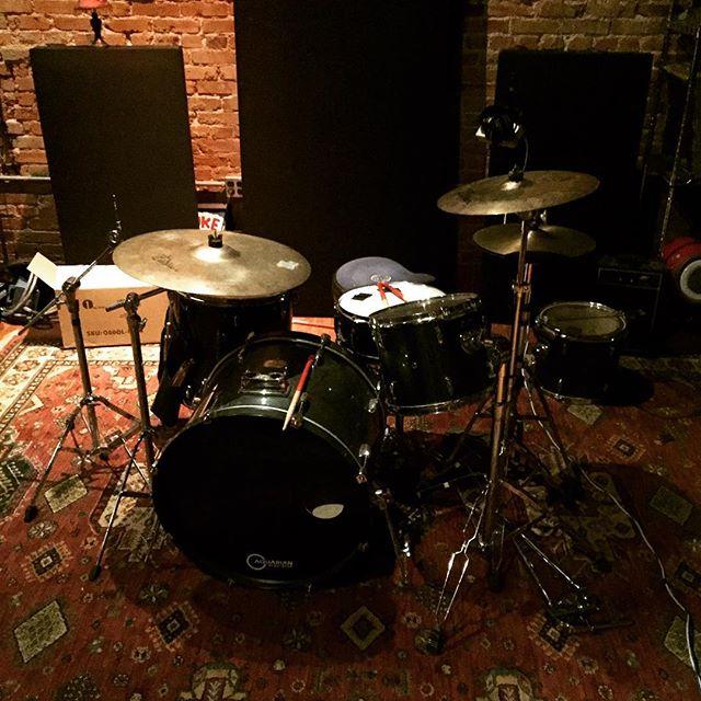 Trakkin' the drums at @sawhorsestudios today