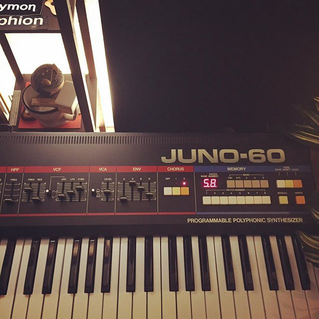 It's hard to go wrong with this by your side.  #roland #juno60 #keyboard #synth #asthmaticrecordings #musicproduction