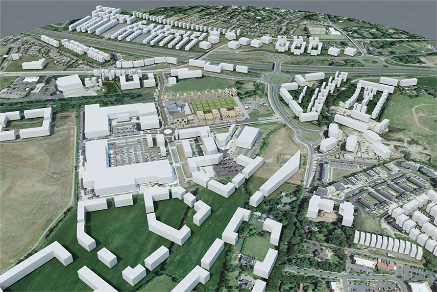 Carrickmines Masterplan   The proposed new Village at the Park will provide a mixed use centre at Carrickmines to serve the growth nodes of Kilternan, Glenamuck, Stepaside and Carrickmines.