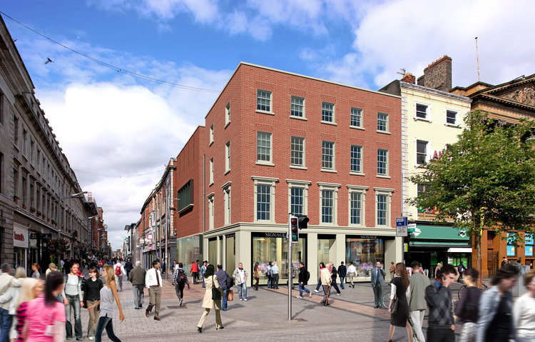 O'Connell Street & Henry Street   This project involves the redevelopment of the corner of O'Connell Street and Henry Street opposite the GPO to create a new viable high quality flagship retail store which responds to its setting and the architectural heritage of the area.