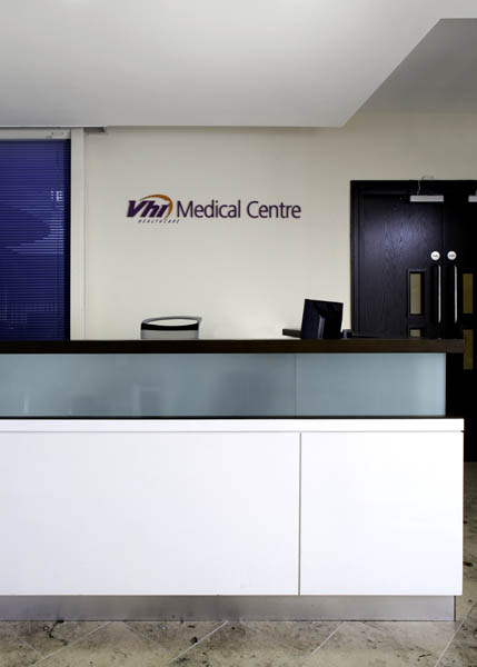 VHI Screening Centre   The VHI Screening Centre involved a change of use from an office to a new medical facility to carry out screening of life insurance policy holders with VHI.
