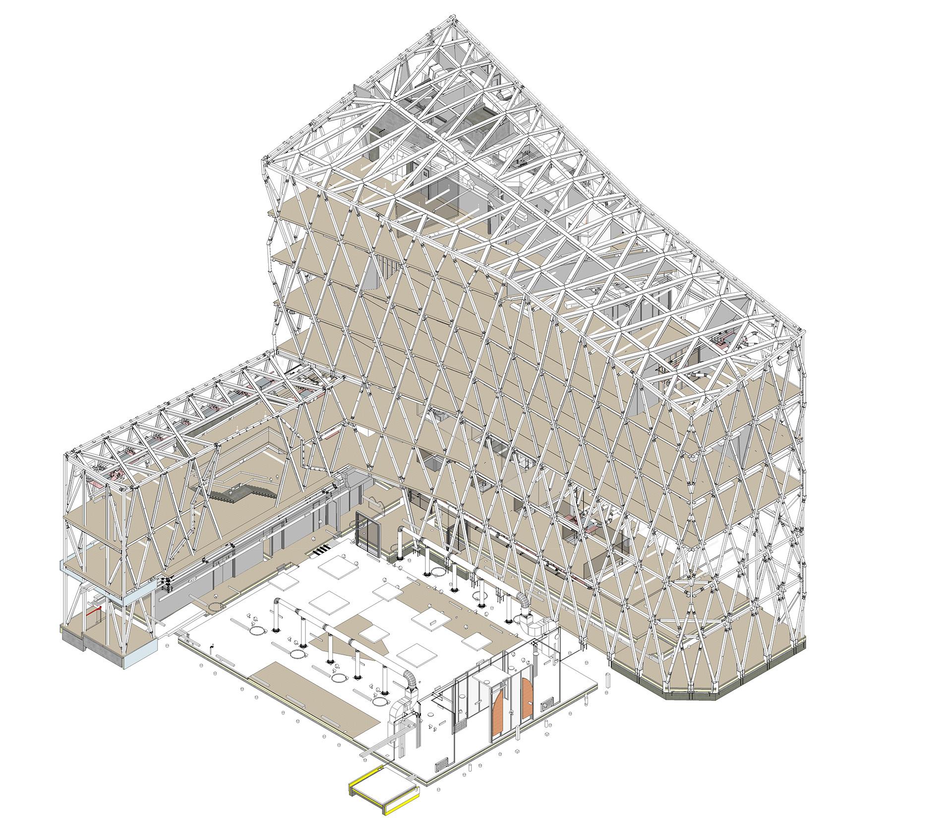 Scots Church - Axonometric View