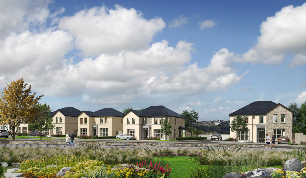 Heather Hill   Located in Bearna, a village west of Galway City, the proposed development consists of 113 new 2 storey dwellings on this edge of village site.