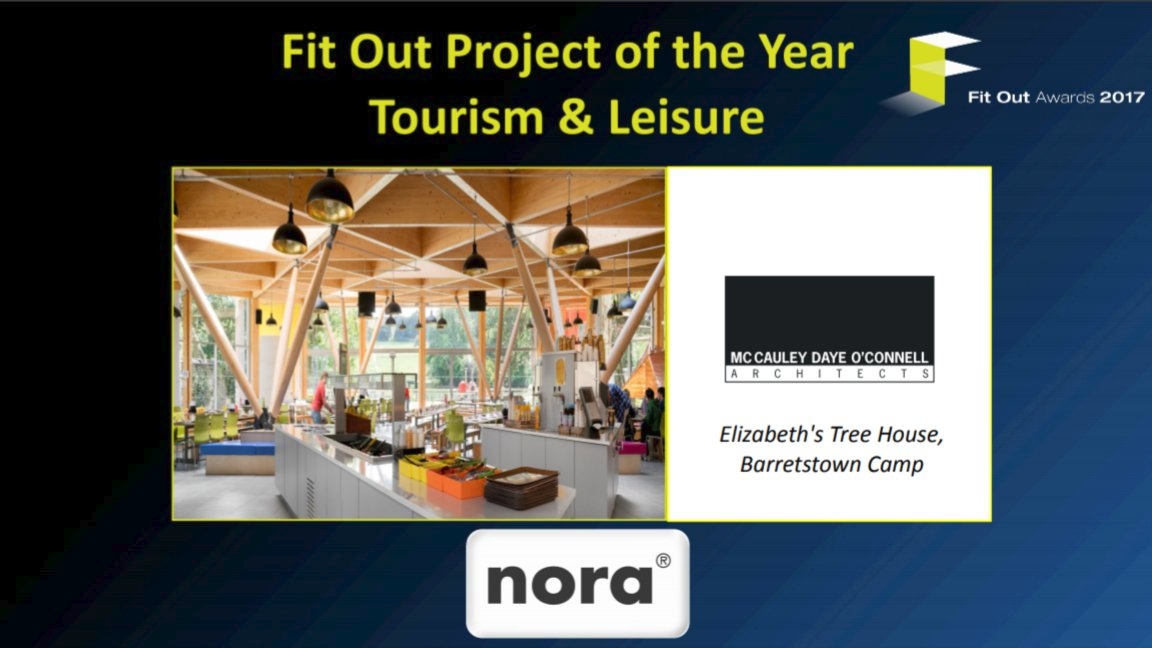 Well done Elizabeths Tree House, Barretstown by McCauley Daye O'Connell Architects  Fit Out Project - Tourism & Leisure Winner