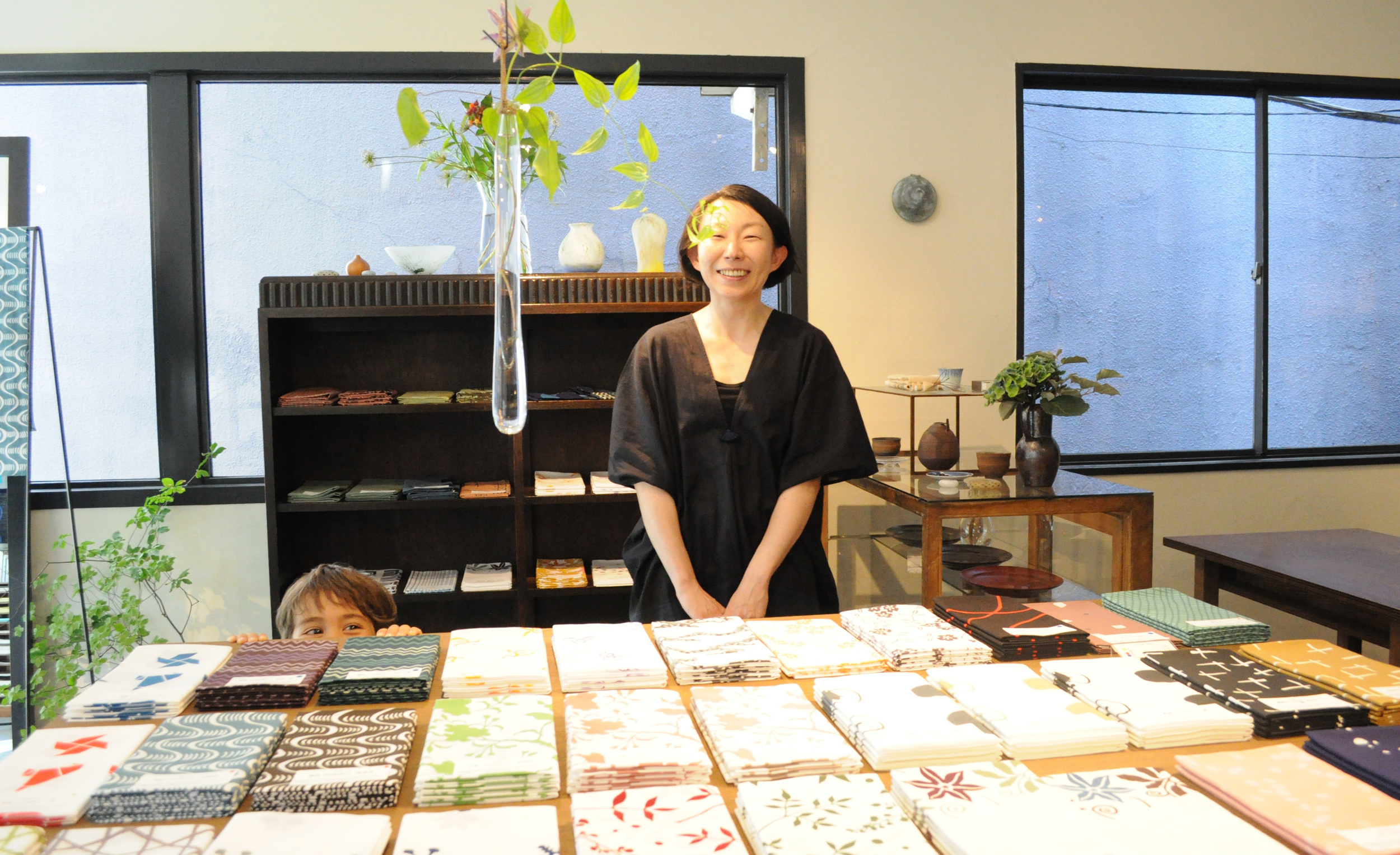 Yuki Nogucih at Ahiroya Tenugui Exhibition |La Ronde d'Argile (Kagurazaka, Tokyo)