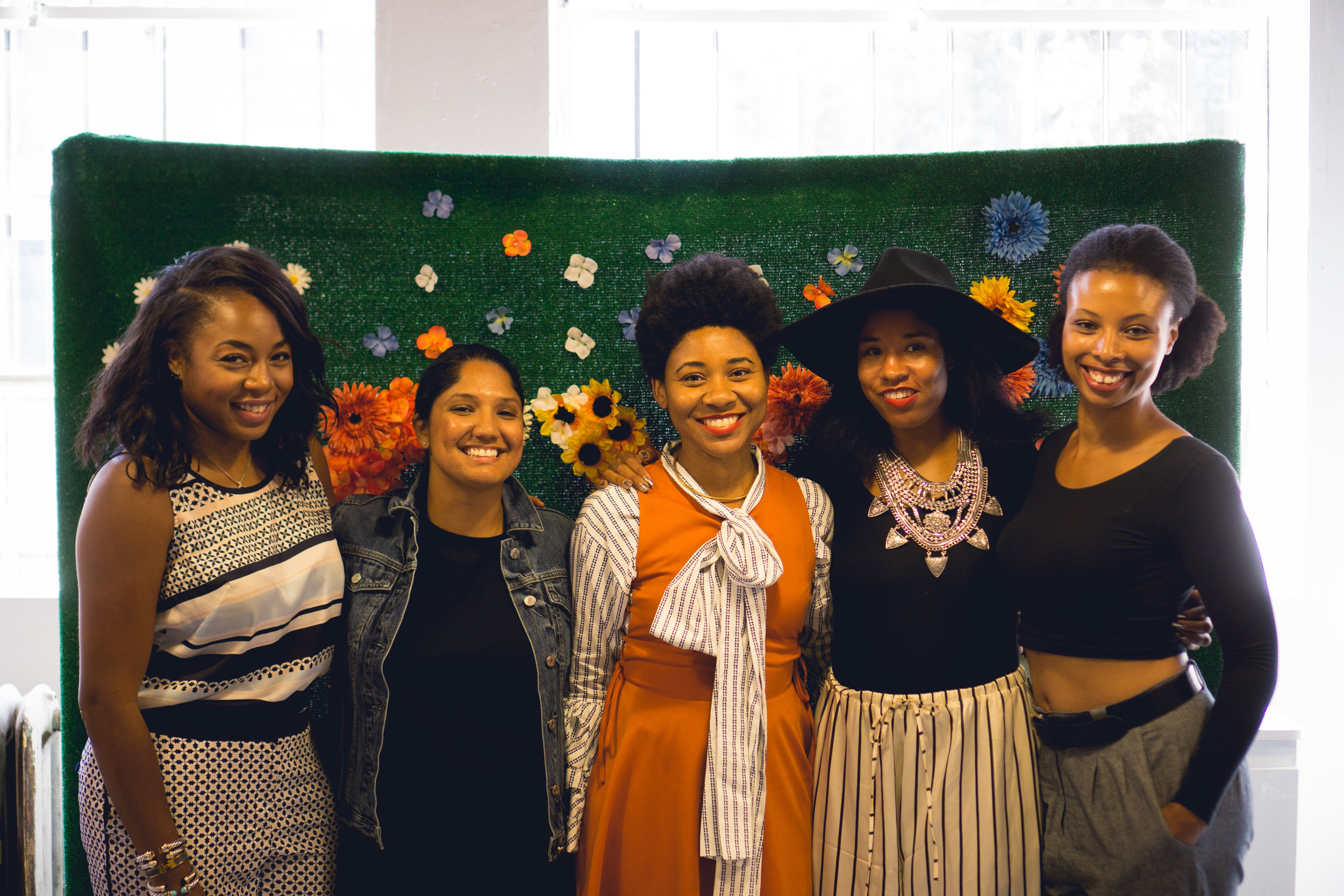From left to right: Kéla Walker, Bernadette Pichardo, Tamera Darden, Victoria Sanders and Alexia Lewis