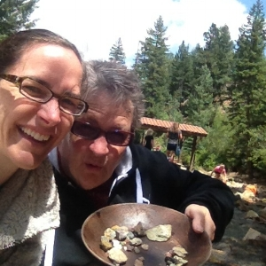 Mom and I panning for gold in Colorado (we didn't find any).