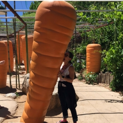 "On a visit to a botanical garden in Albuquerque- ""... eat your veggies!"""