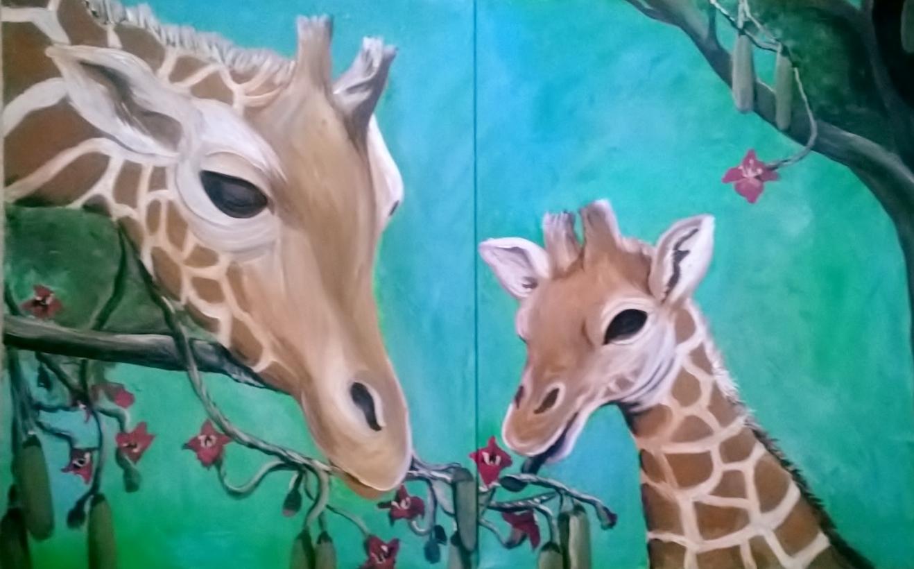 Giraffe's Side by Side