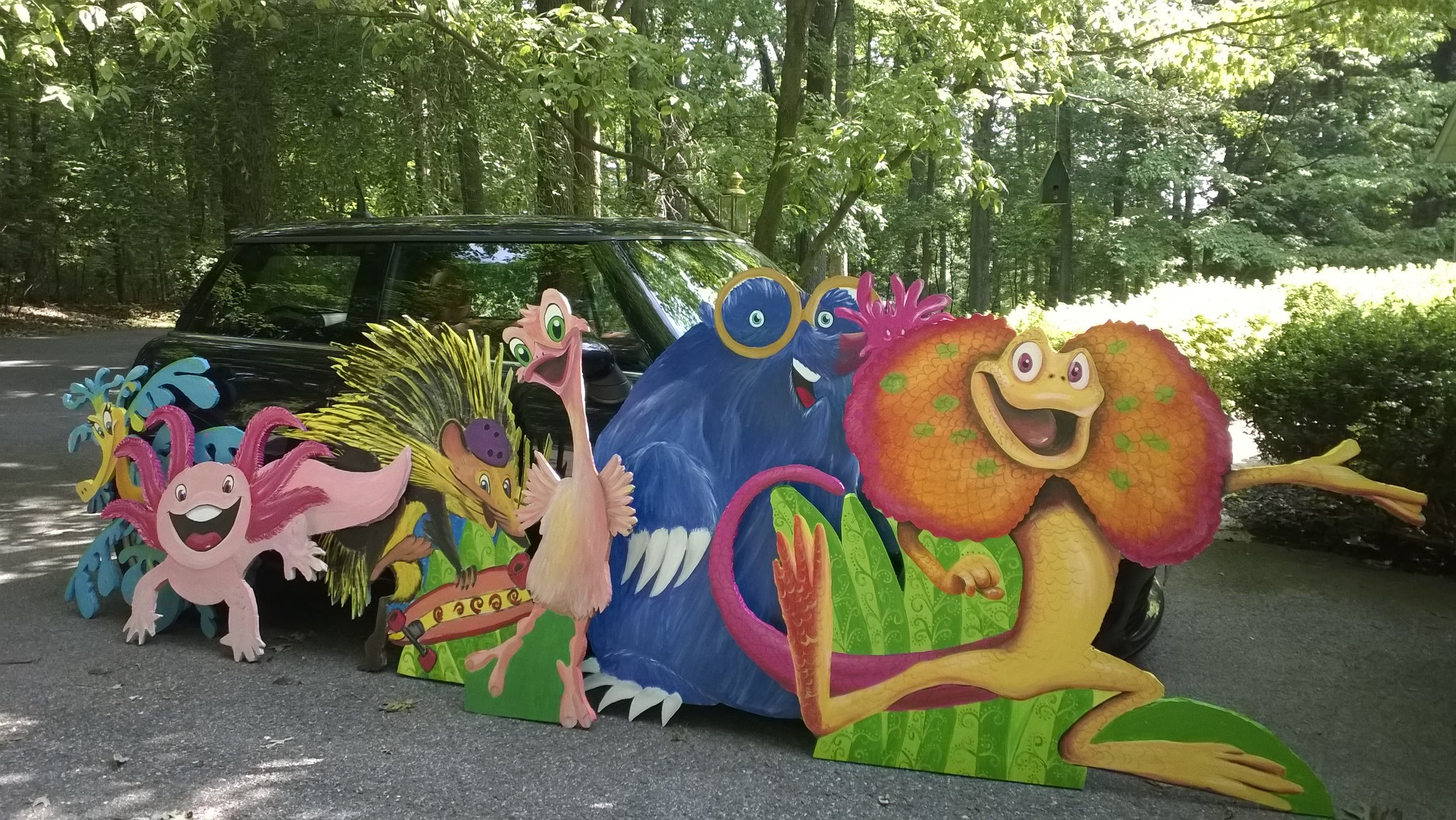 Yes, all these VBS Weird Animals actually fit in a Mini Cooper.