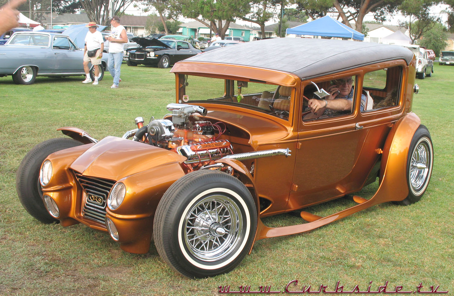 The Rod Riguez, a heavily-modified 1930 Ford Model A Coupe.