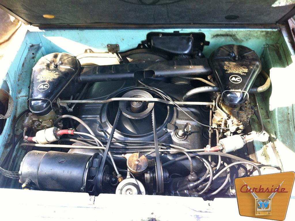 1961 Corvair Lakewood wagon engine