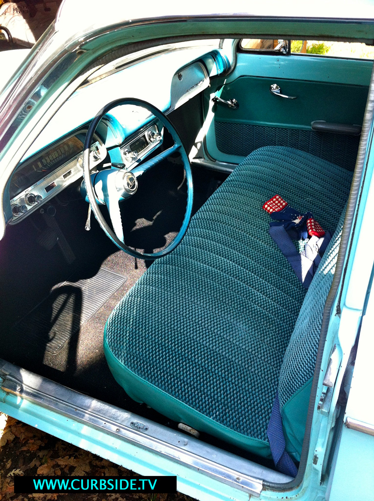 Front seat of the 1961 Corvair Lakewood wagon