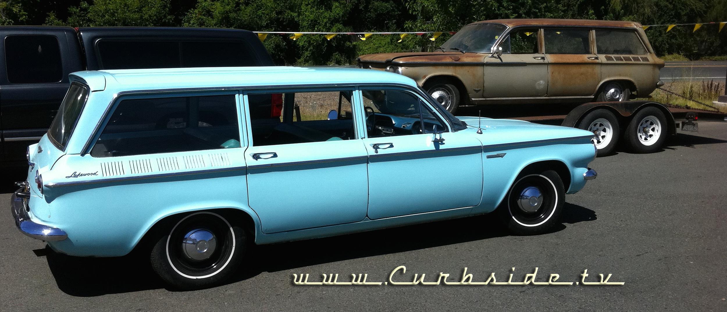 1961 Corvair Lakewood wagon and 1962 Corvair 900 Wagon
