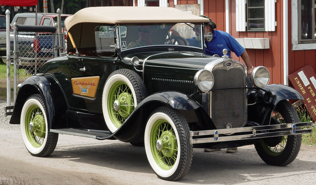 A beautiful Ford Model A convertible