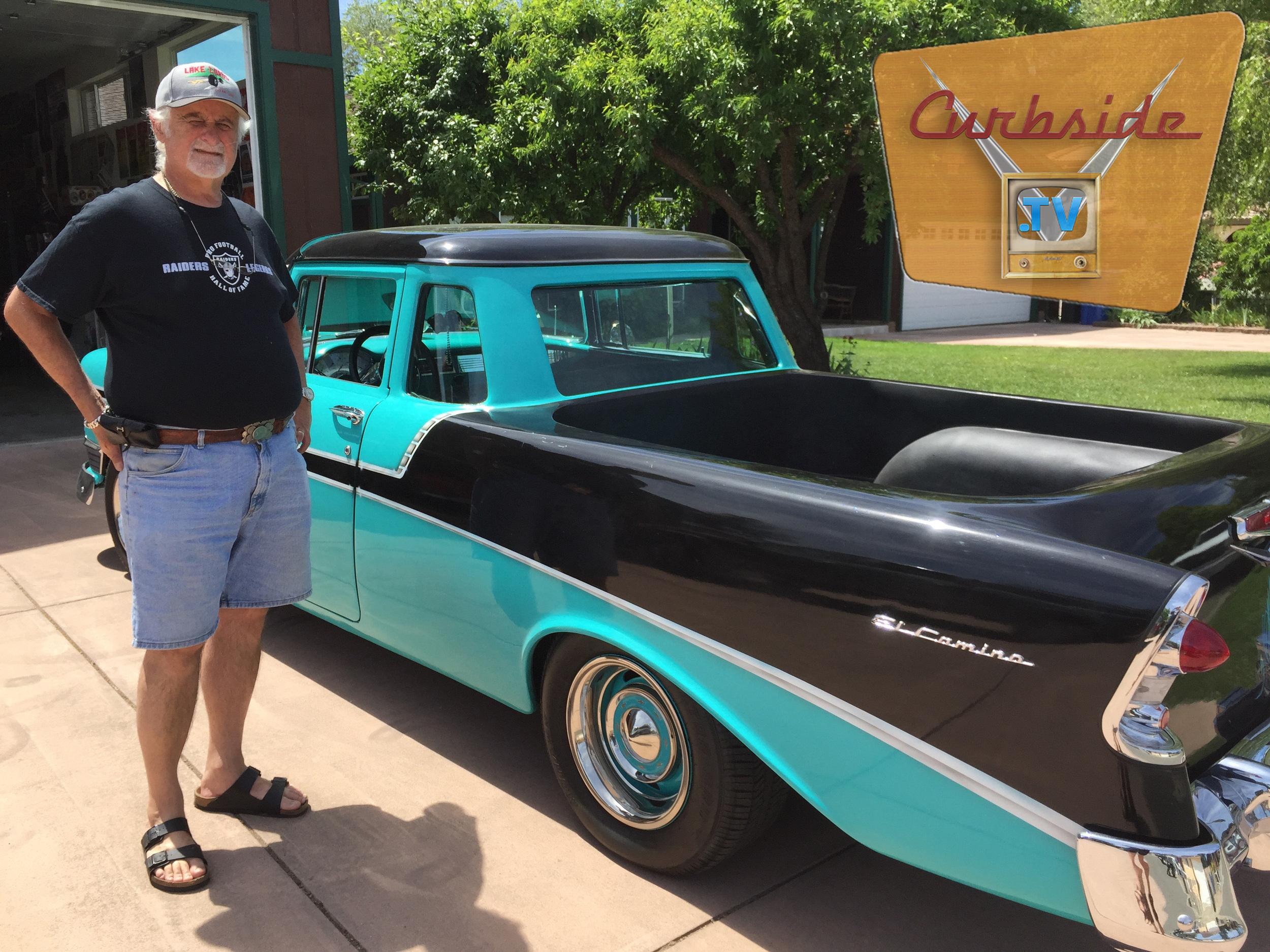 Joe Colabella and his custom 1956 Chevrolet El Camino 60th Anniversary Special