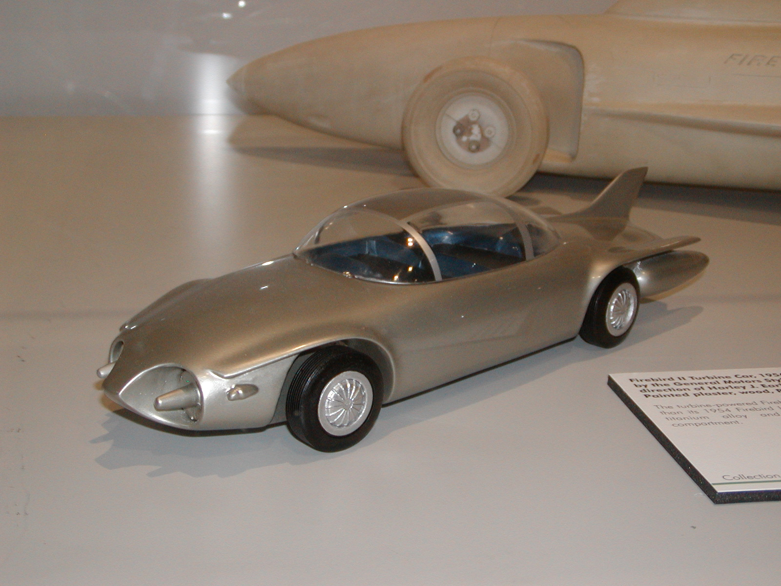 A model of the Firebird II.