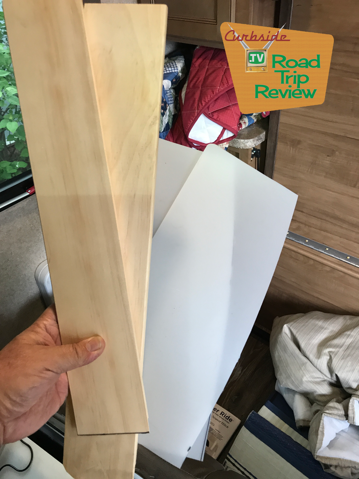 The spacers and cutting board material ready for installation.