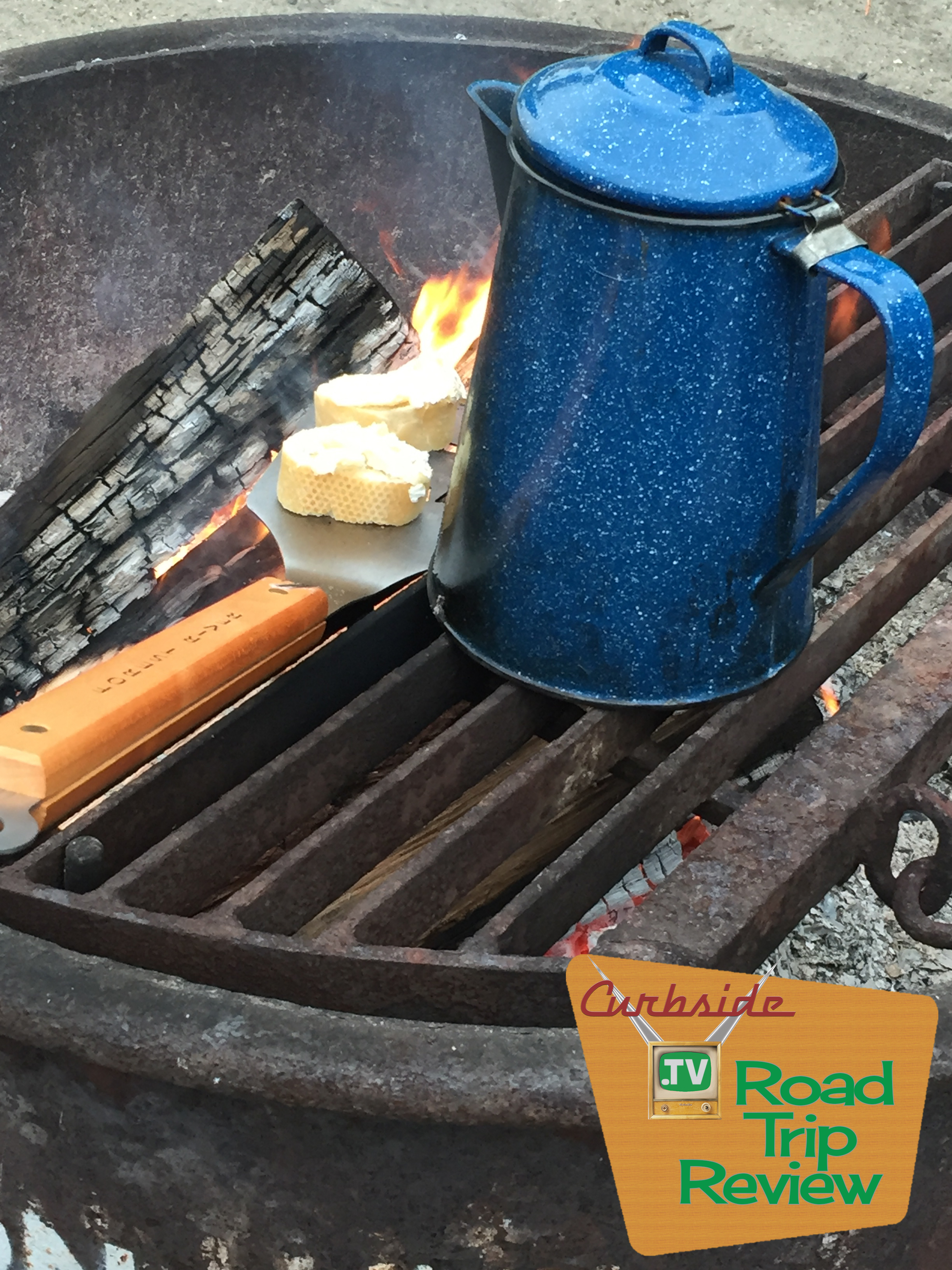 Coffee and cheese campfire