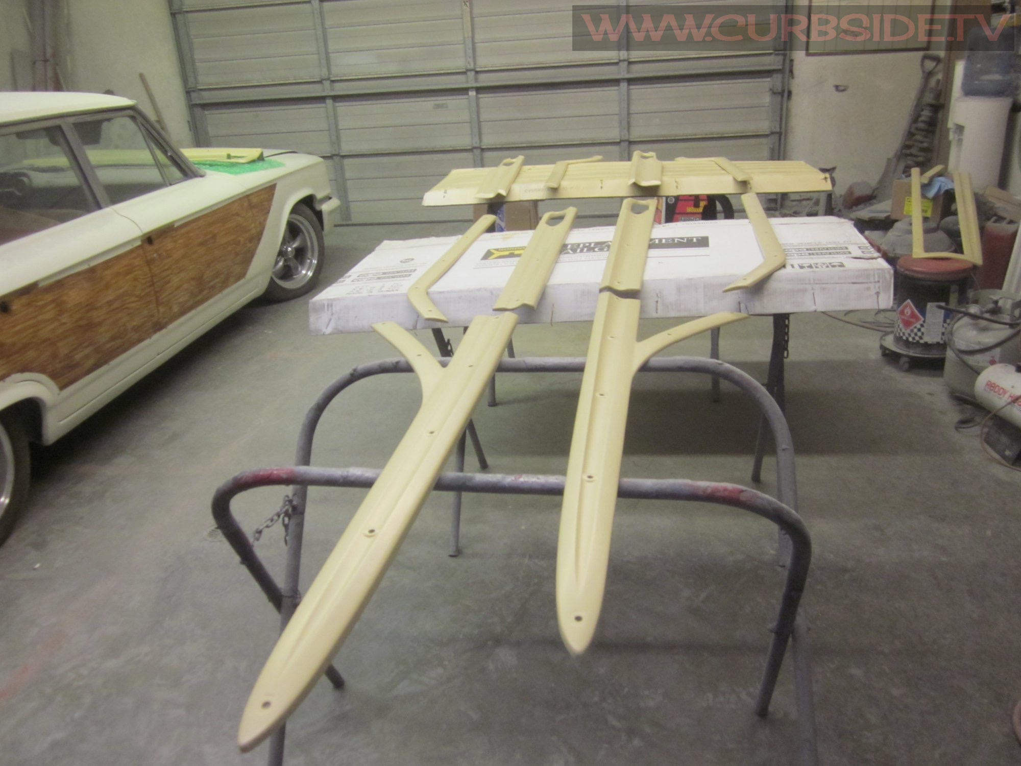Woodie wagon spears base coat finished