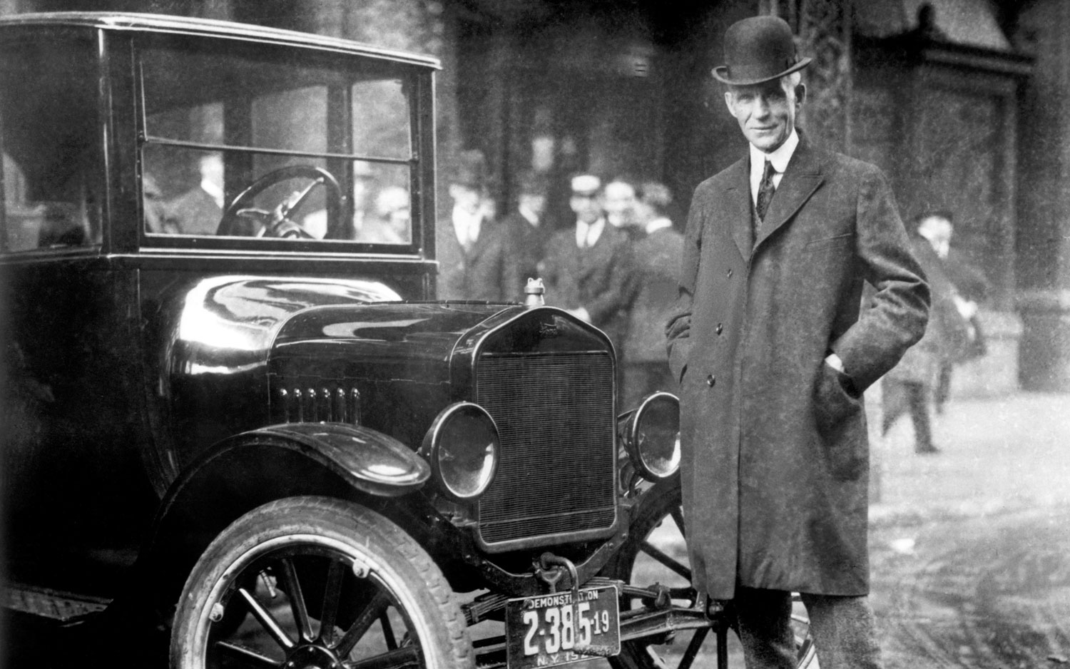 Henry Ford and his world-changing creation.