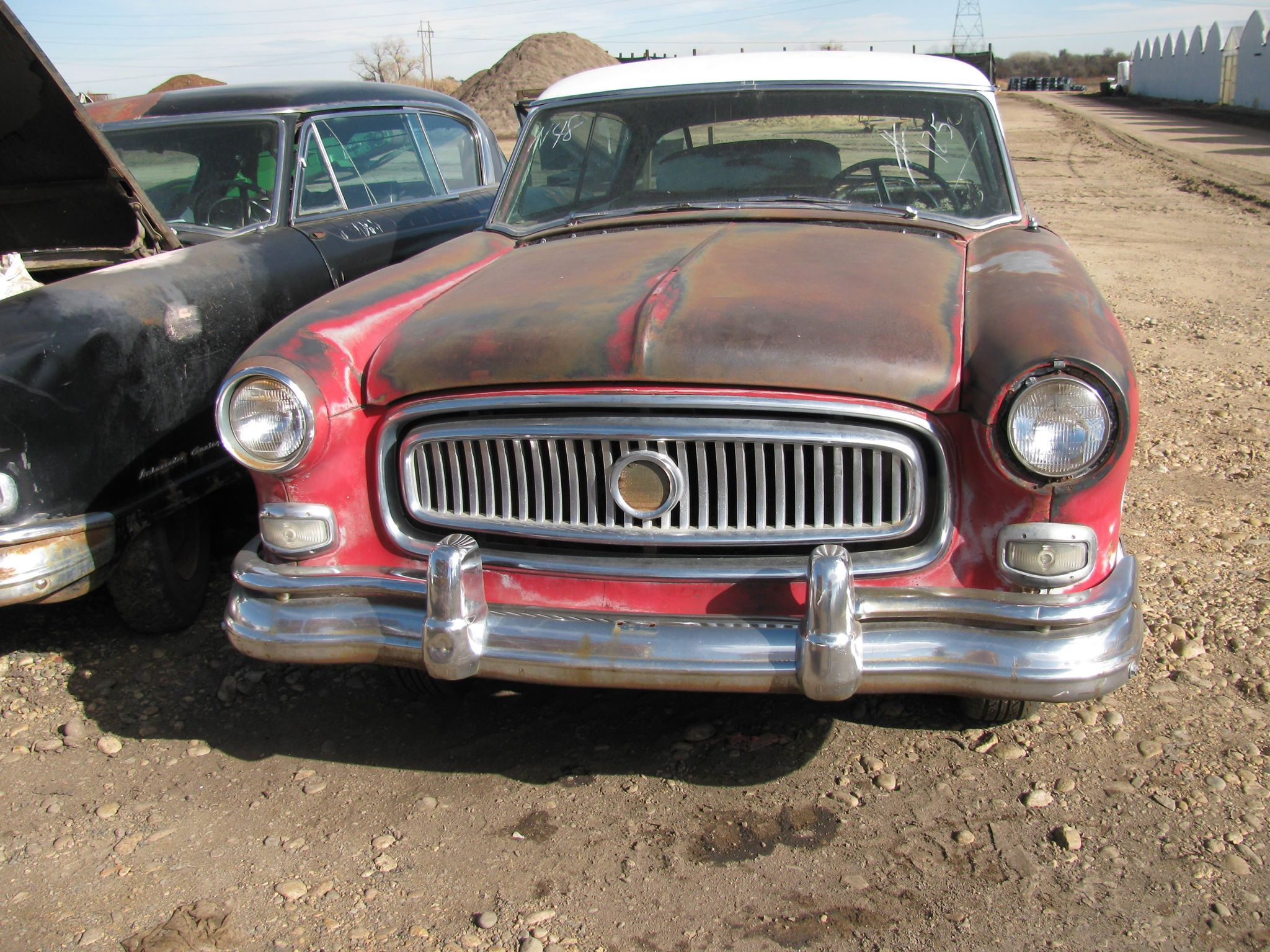 The Nash as it appeared in the field where it had sat since 1961.