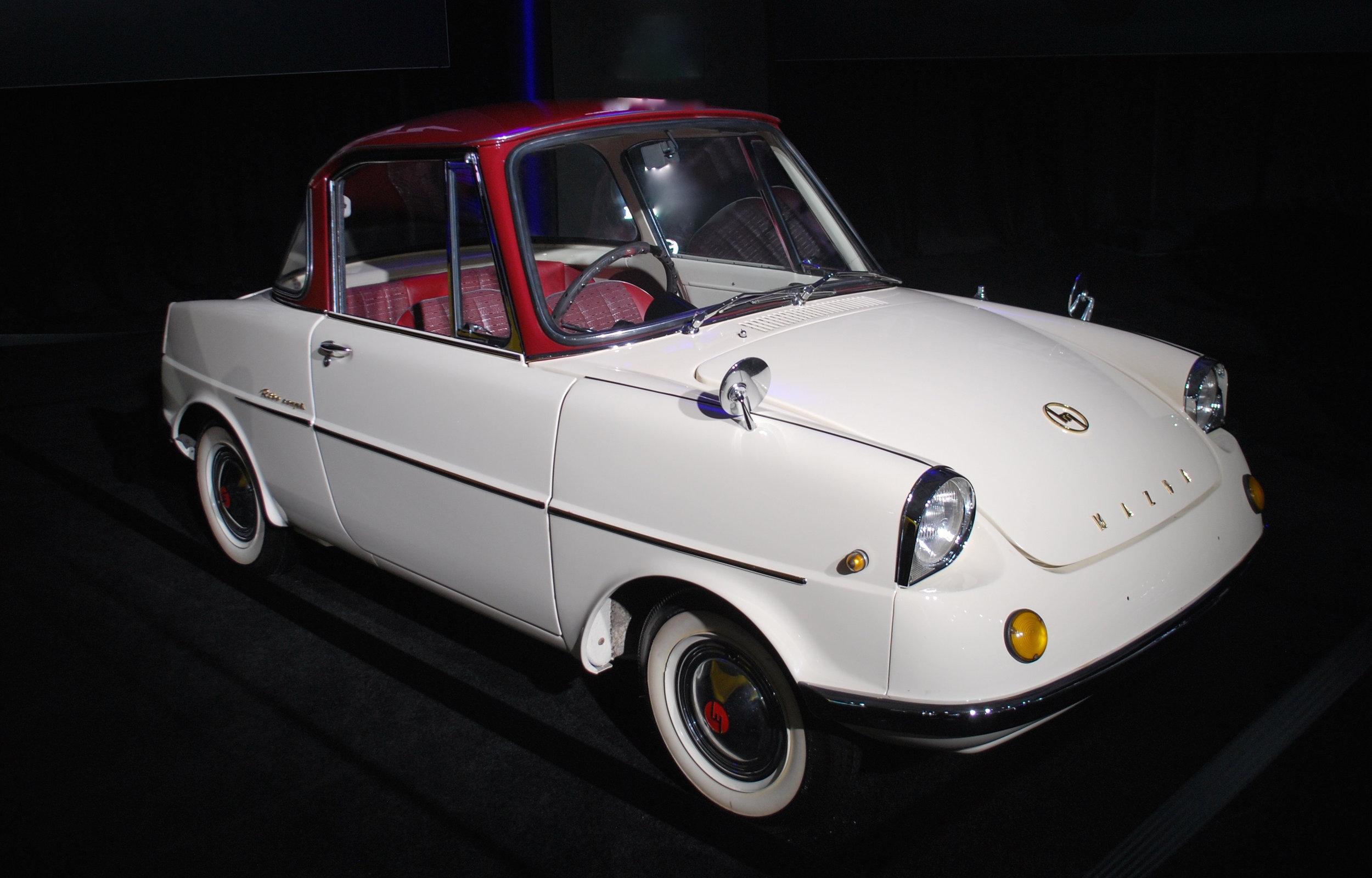 tiny vintage Mazda at the 2018 Los Angeles International Auto Sh