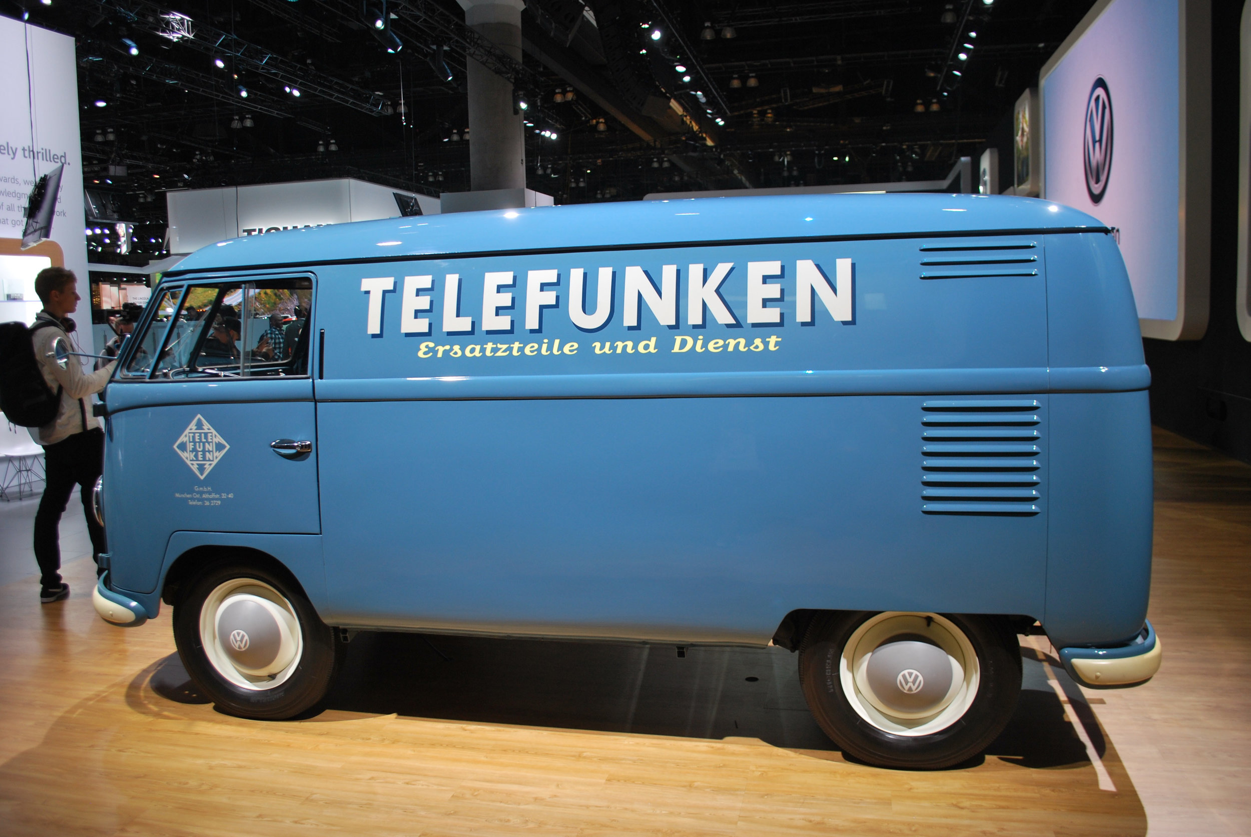 Vintage VW Transporter at the 2018 Los Angeles International Aut