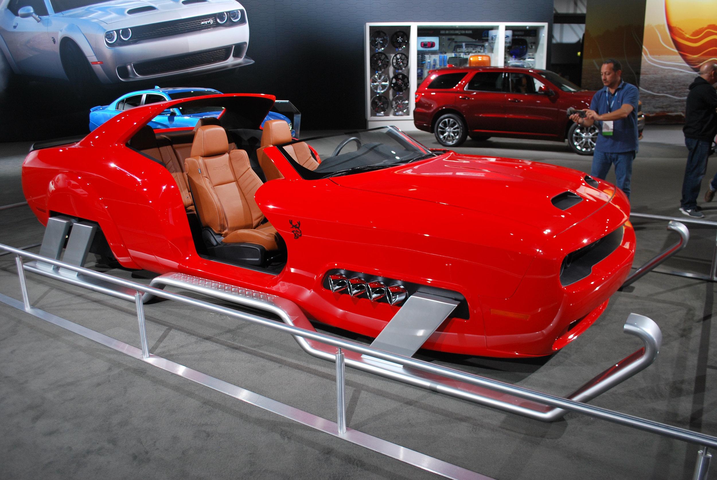 Santa's new sleigh courtesy of Dodge at the 2018 LA Auto Show