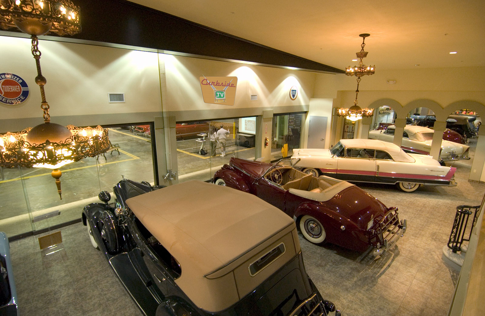 Packard showroom at the Automobile Driving Museum