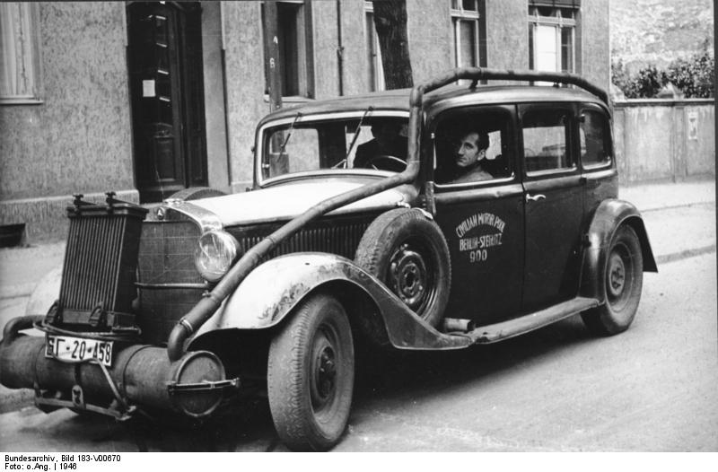 Wood-fired car