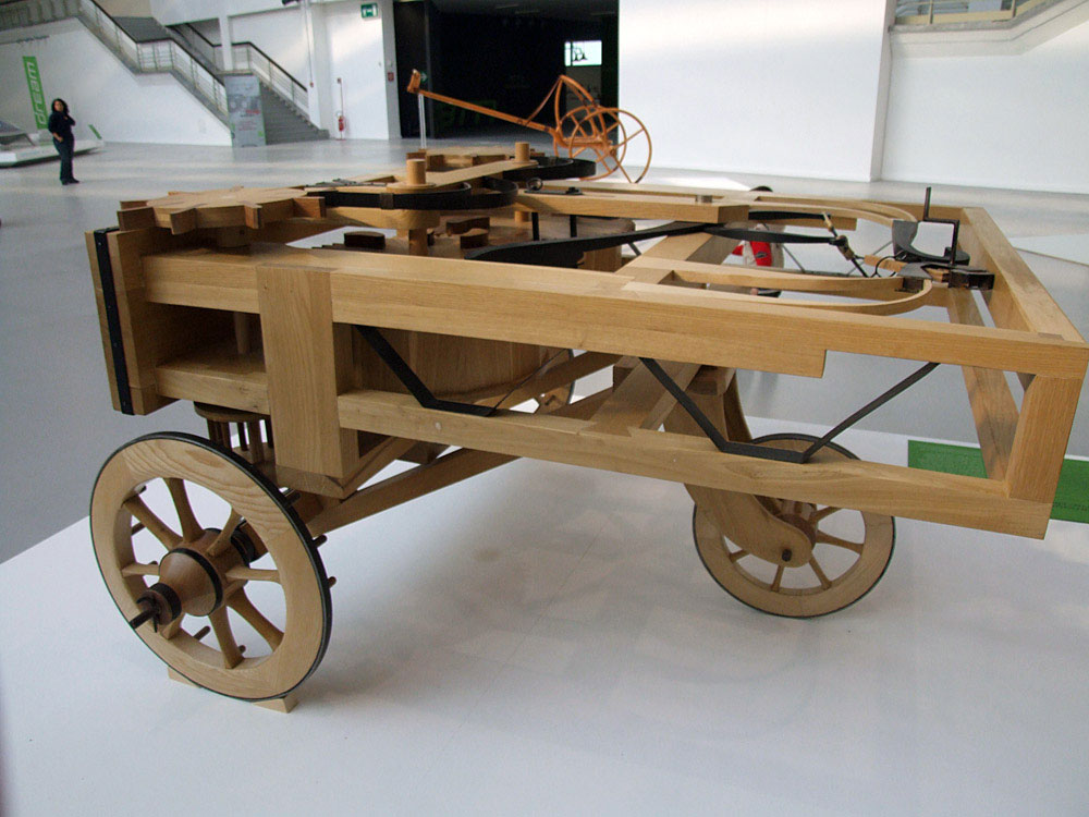Leonardo DaVinci spring car