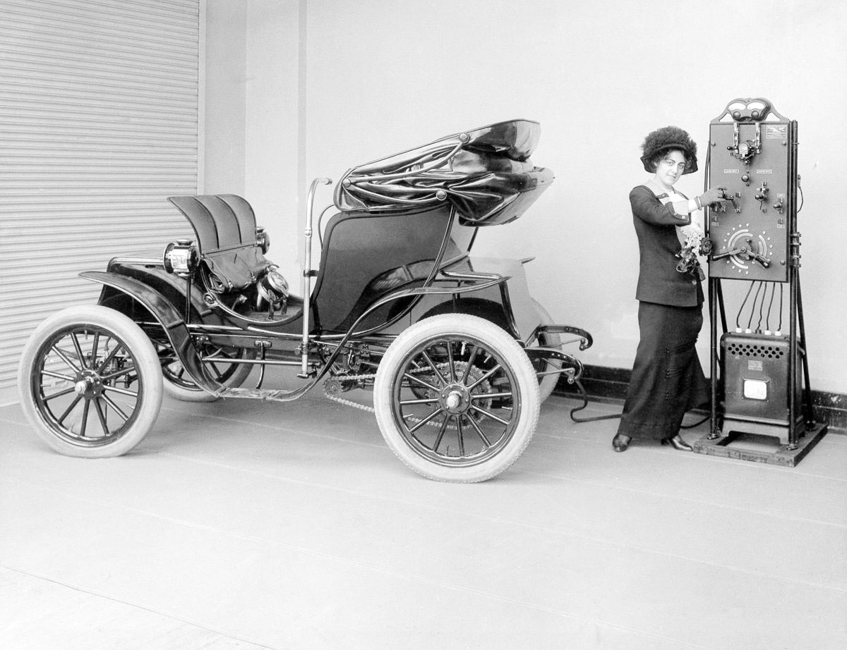 Early electric car