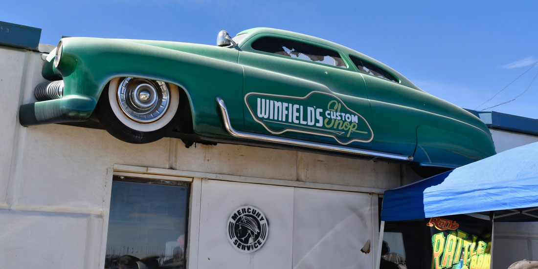 Gene Winfield's garage