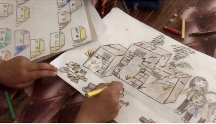Drawings by Retaj, Bissan, & Limar