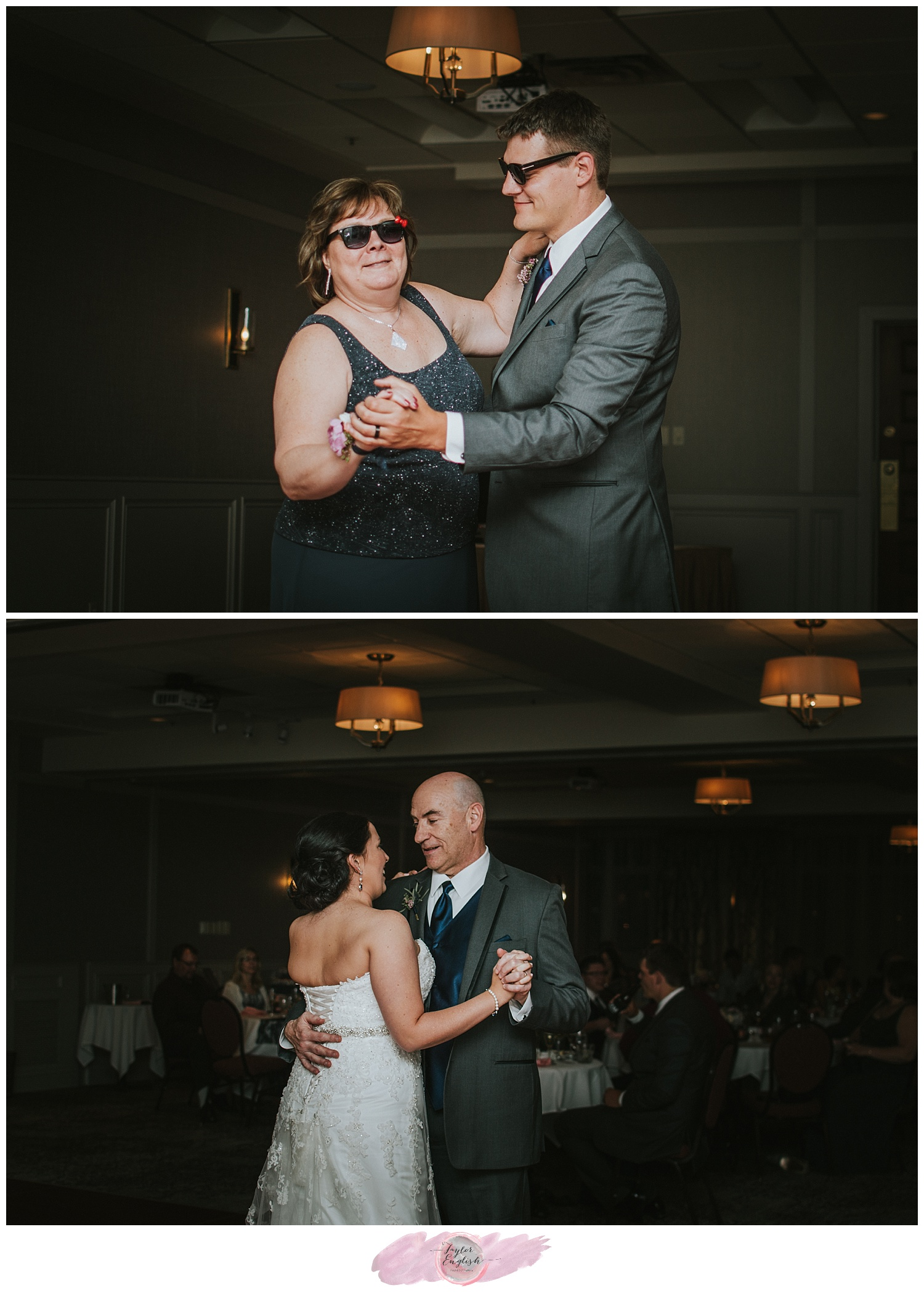The groom and his mother choreographed a fun dance together