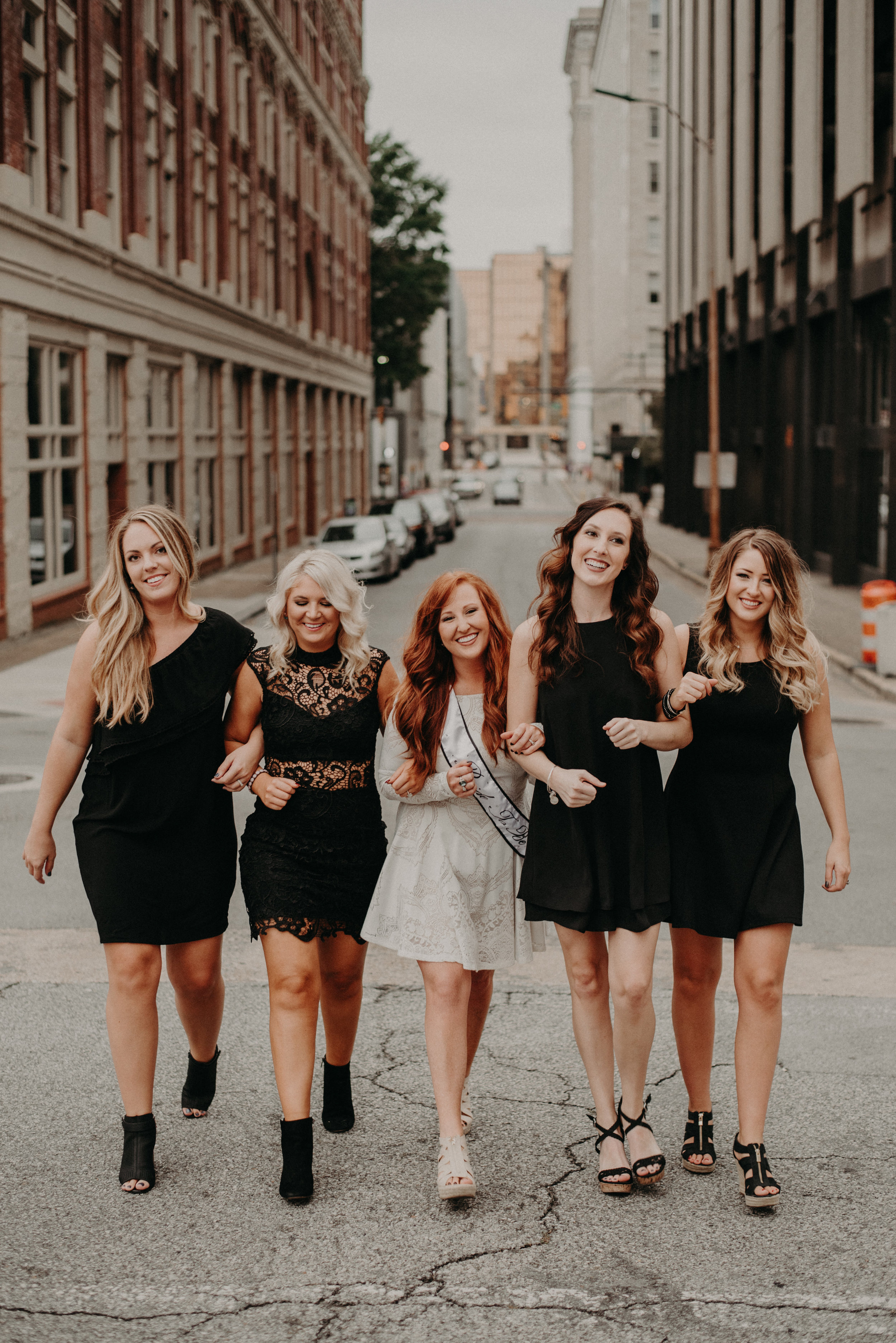 Bachelorette party portrait session in Chattanooga, Tennessee