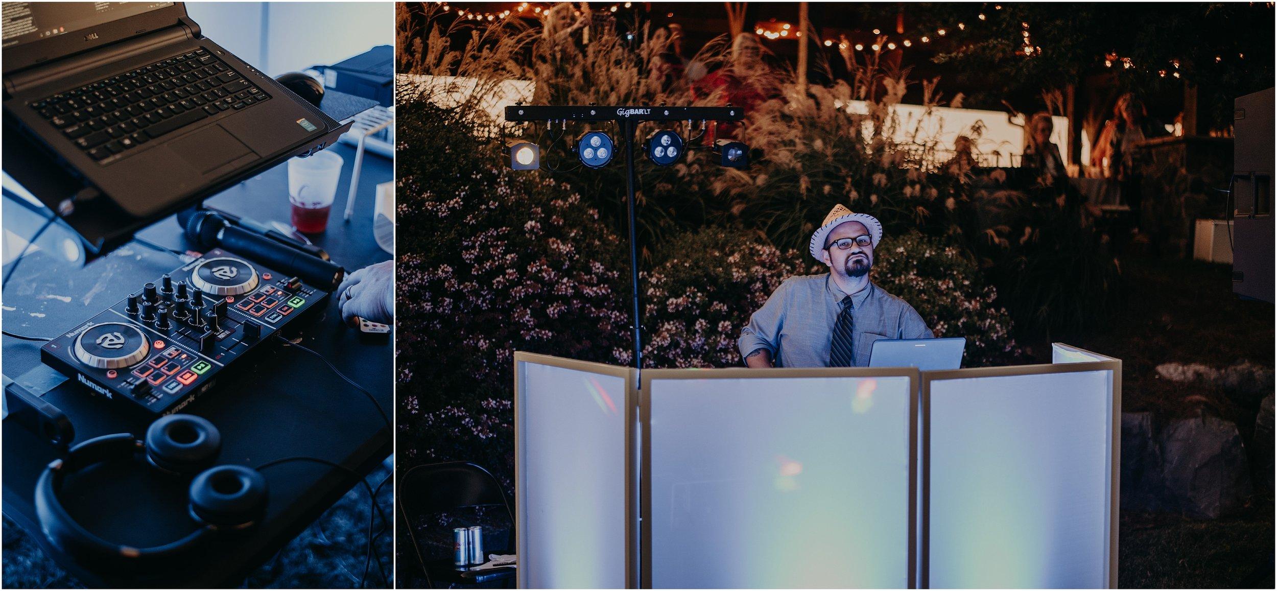 Scenic Event Solutions DJ's wedding reception