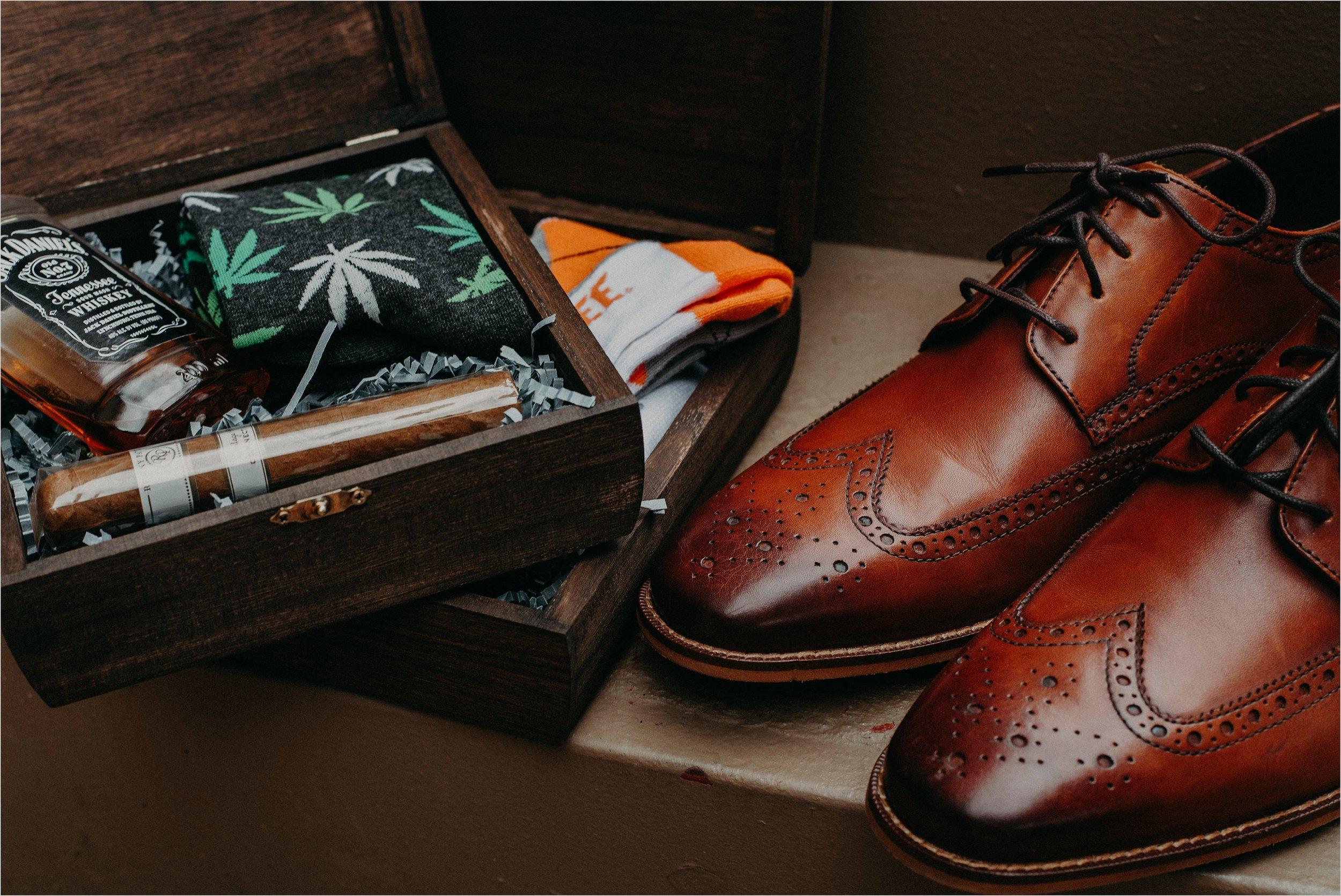 Marijuana inspired groomsmen gifts and details