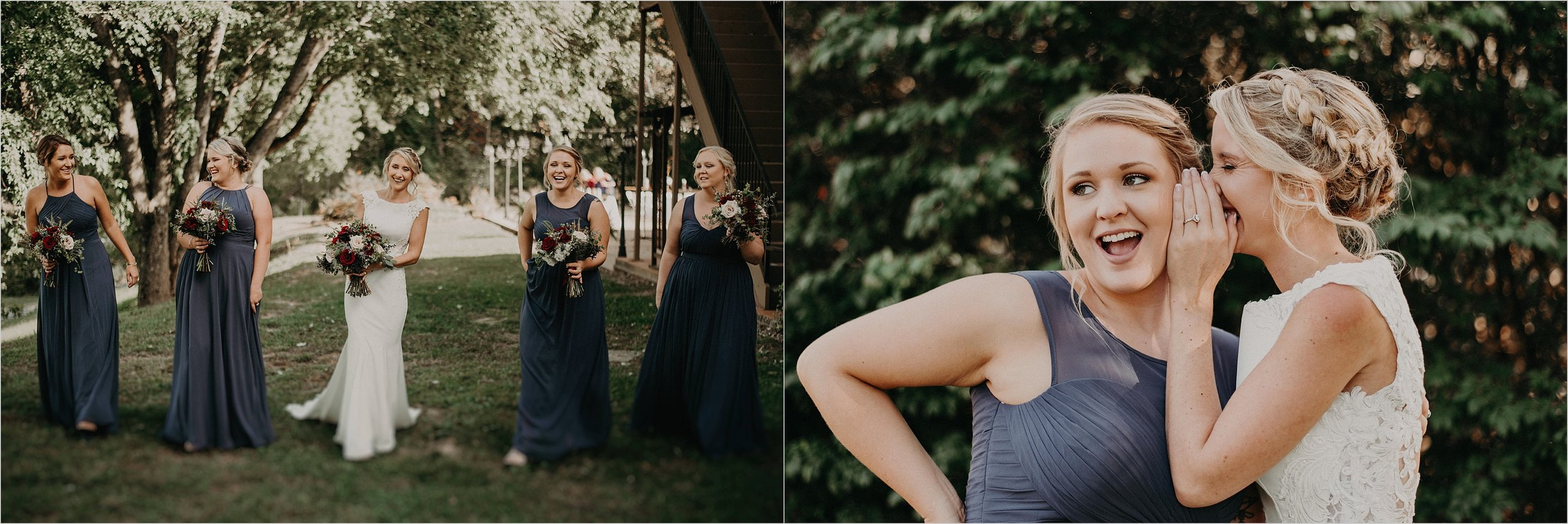 Bride shares a secret with her maid of honor