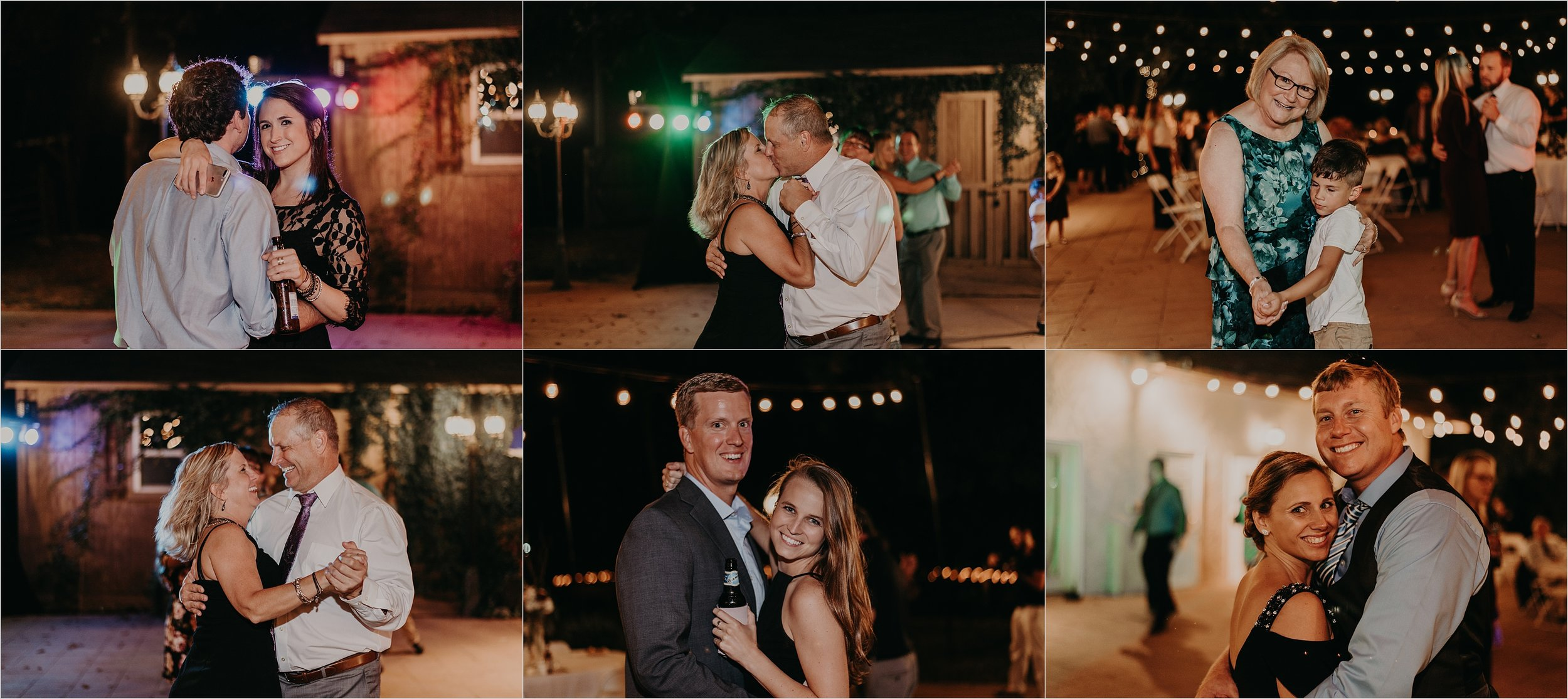 Guests dance during wedding reception at Tennessee Riverplace