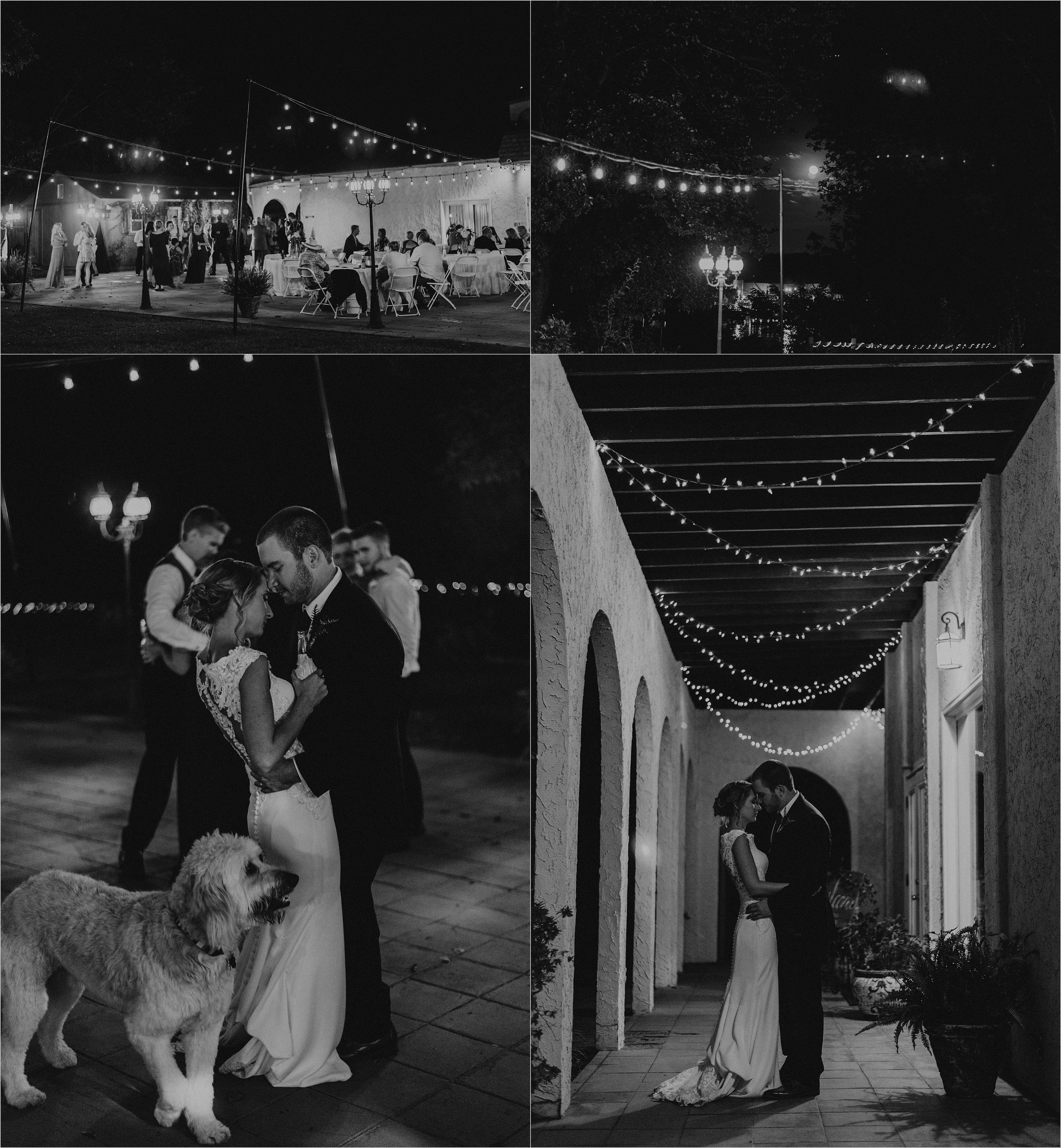 Wedding couple shares quiet moment after the reception