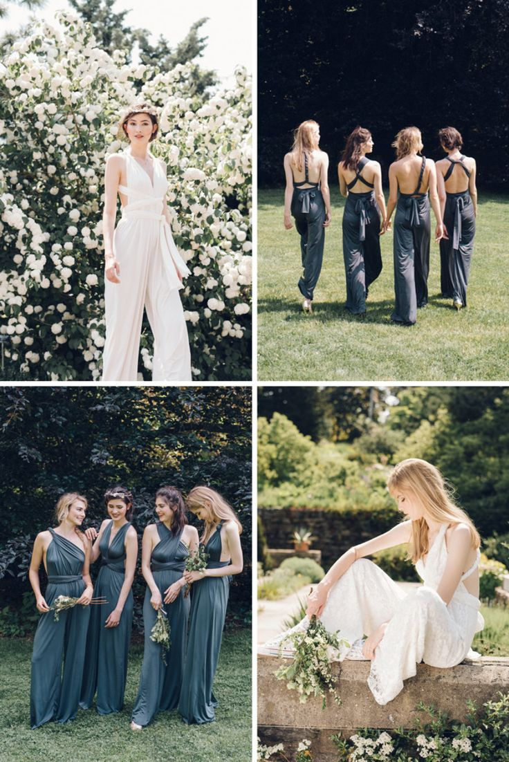 Two Birds Bridesmaid Jumpsuit that allows for wrap customization