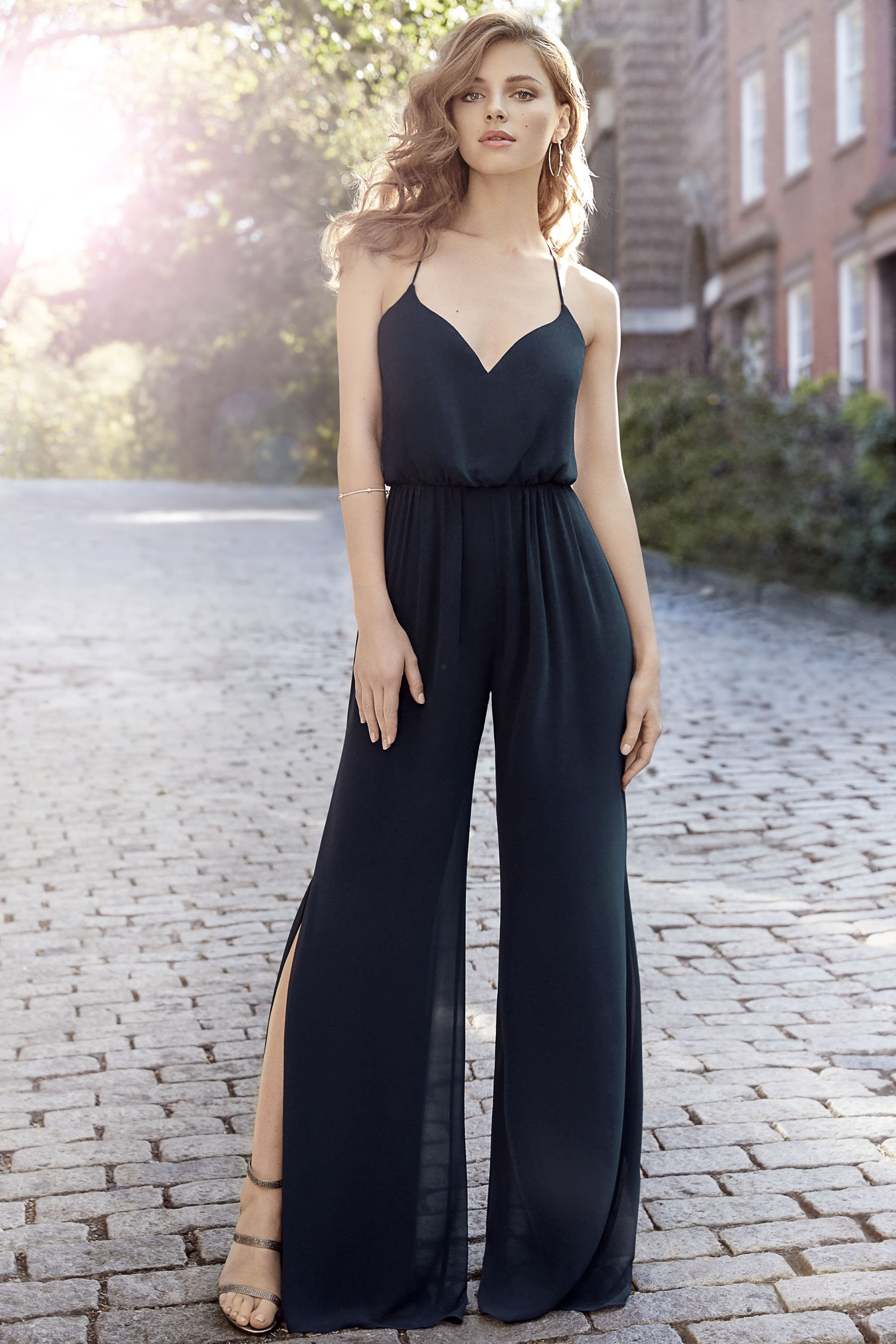 Hayley Paige Bridesmaid Jumpsuit for an oh-so-chic spin on jumpsuits