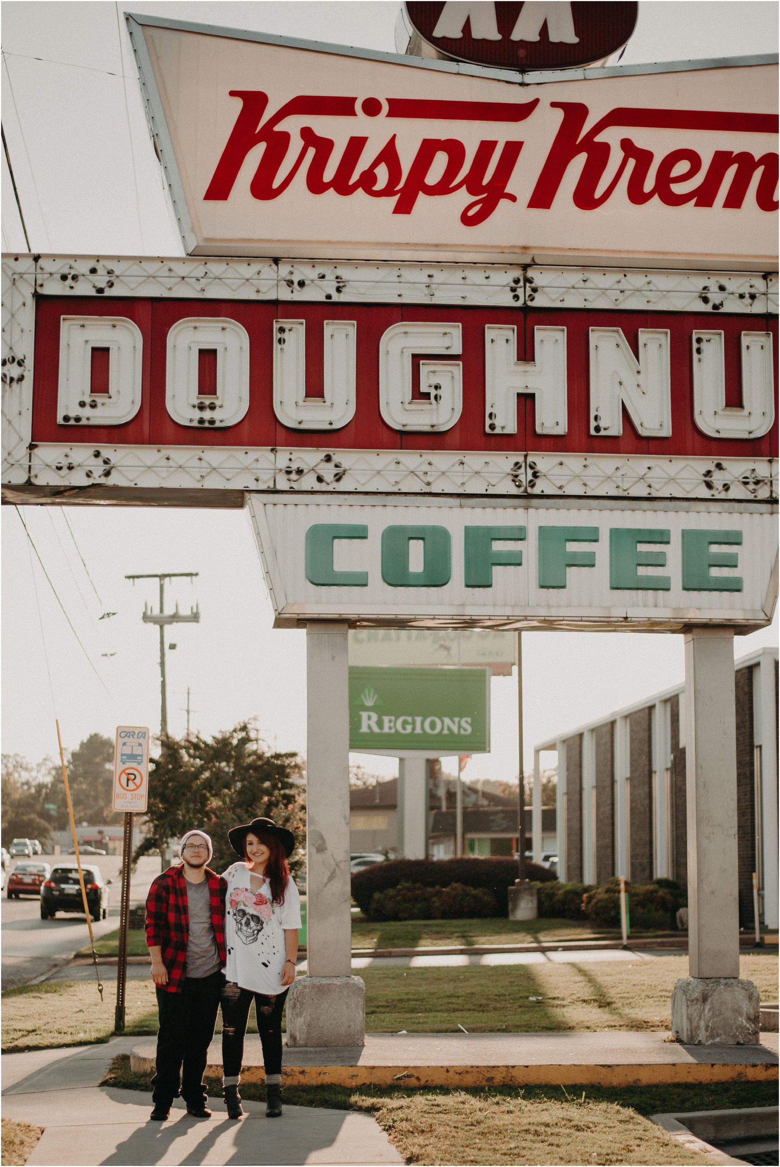 Krispy Kreme, Donuts, and Coffee Neon Sign and alternative couple