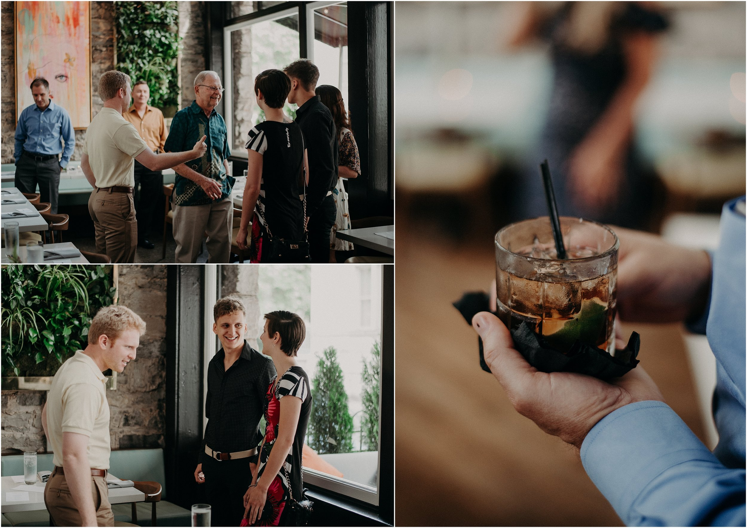 Rehearsal dinner at the Dwell Hotel in Chattanooga, Tennessee